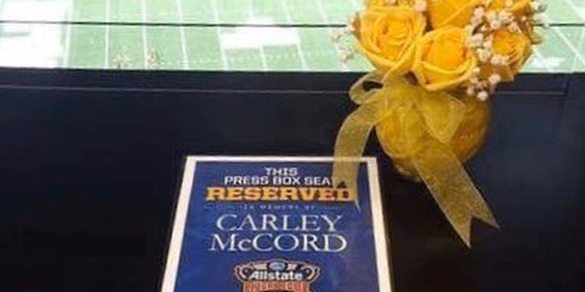 'Reserved for Carley': Sugar Bowl organizers remember sports journalist killed in plane crash