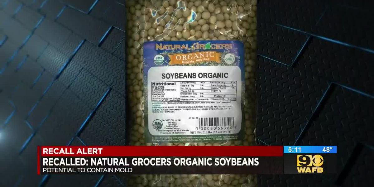 RECALL ALERT: Natural Grocers organic soybeans could potentially contain mold