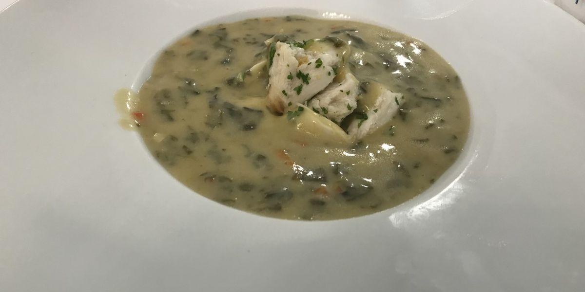 Spinach, Artichoke and Crabmeat Bisque