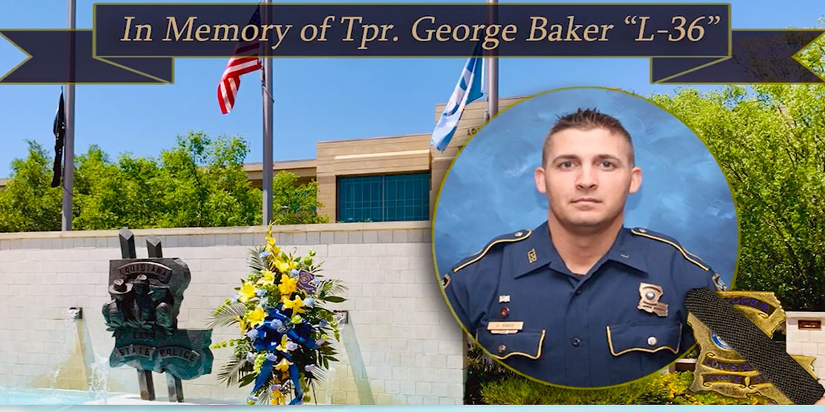 Trooper George Baker to be honored at private memorial service; procession to follow