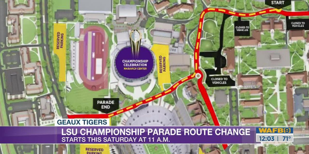 Changes to victory parade at LSU