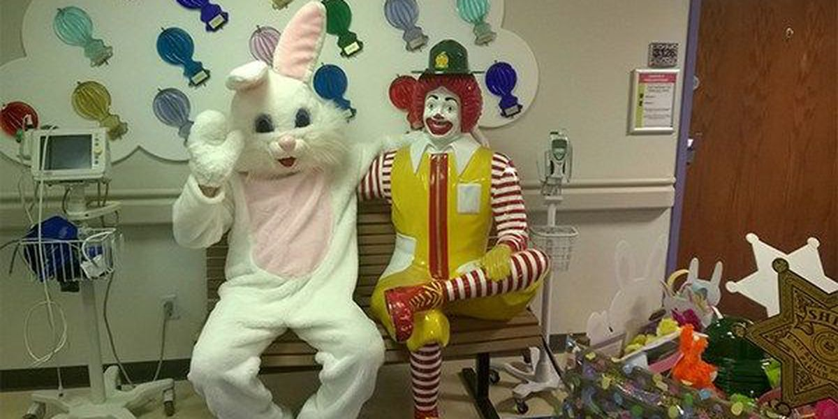 Easter Bunny visits hospitals with East Baton Rouge Sheriff's Office