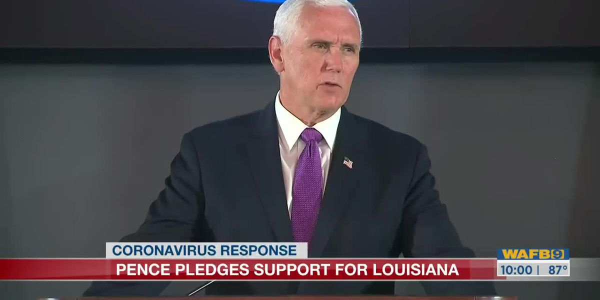 Vice President Mike Pence urges Louisiana's K-12 schools, college campus reopen in the fall during visit to Baton Rouge