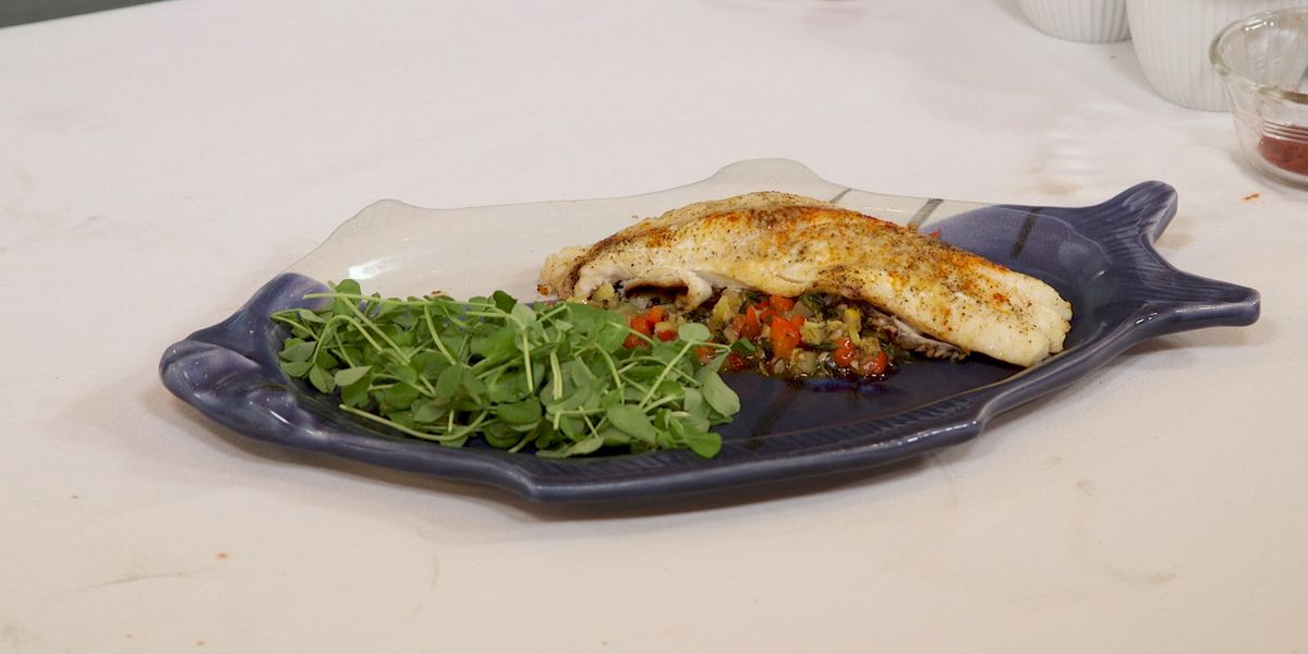 Grilled Red Snapper with Vegetable Relish