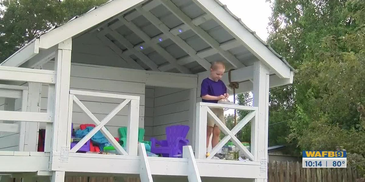 5-year-old boy recovering from cancer in Zachary surprised with brand new tree house