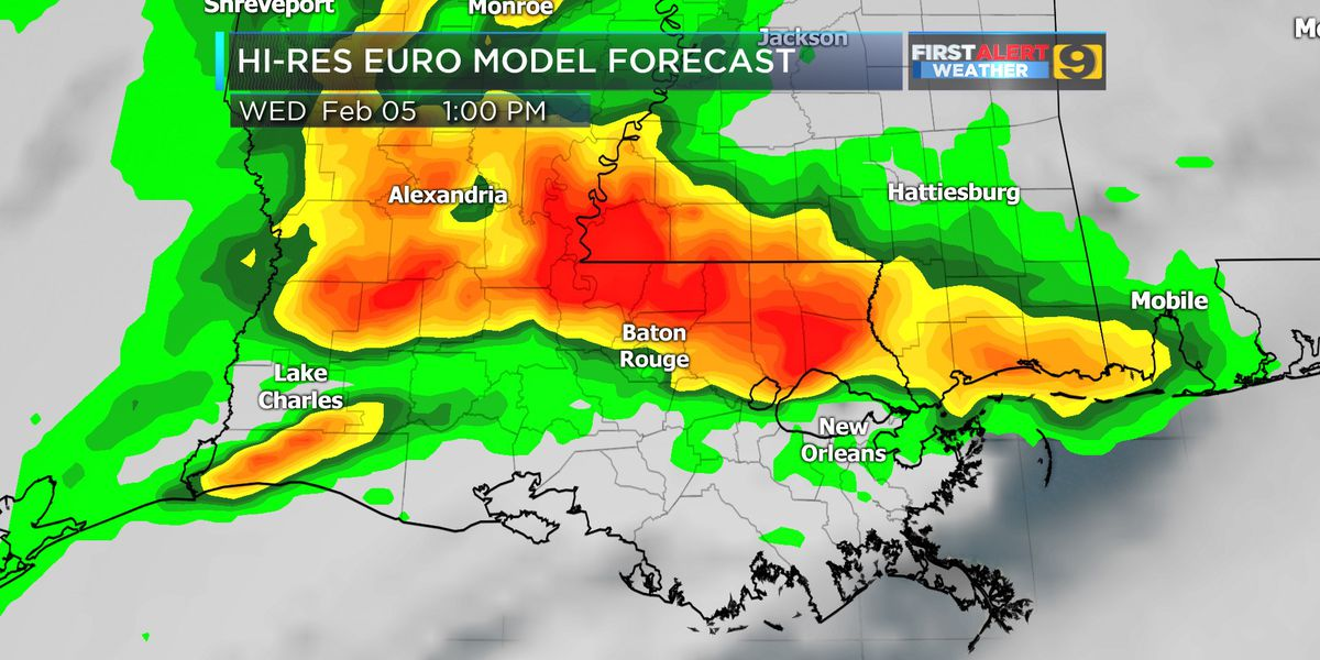 FIRST ALERT FORECAST: Slight risk of severe weather posted for La., Miss. Wednesday