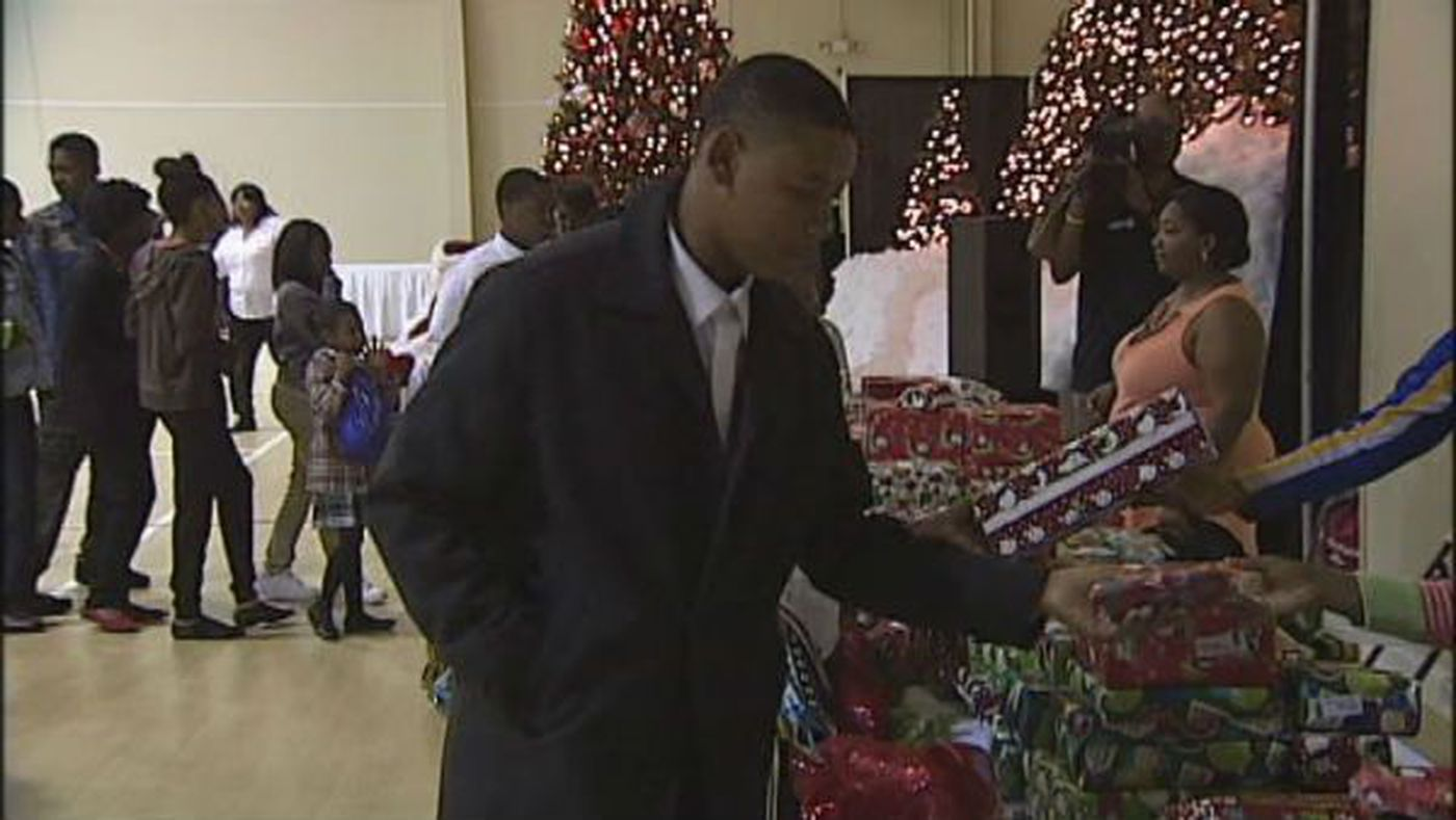 Gift of Christmas presents area families in need with presents for ...