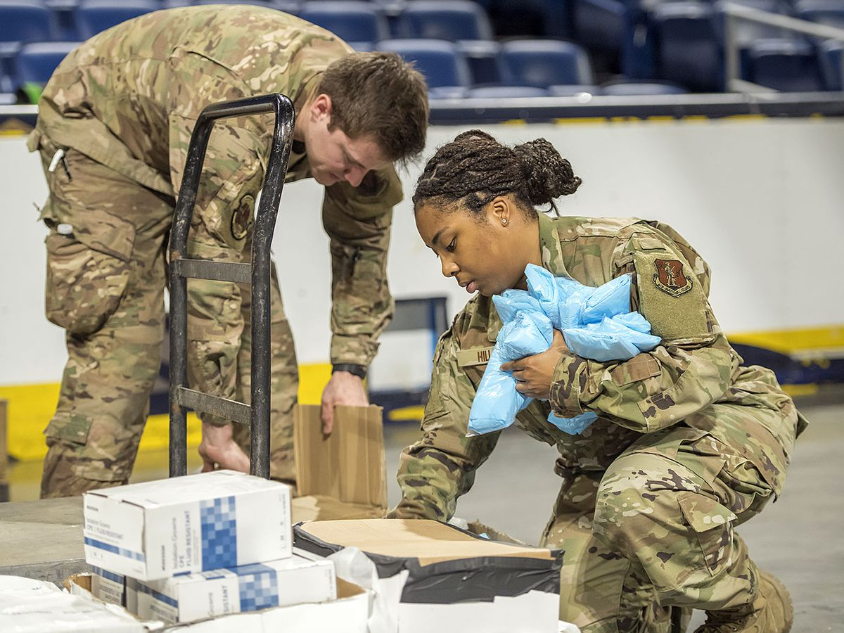 La. National Guard distributing medical supplies across the state
