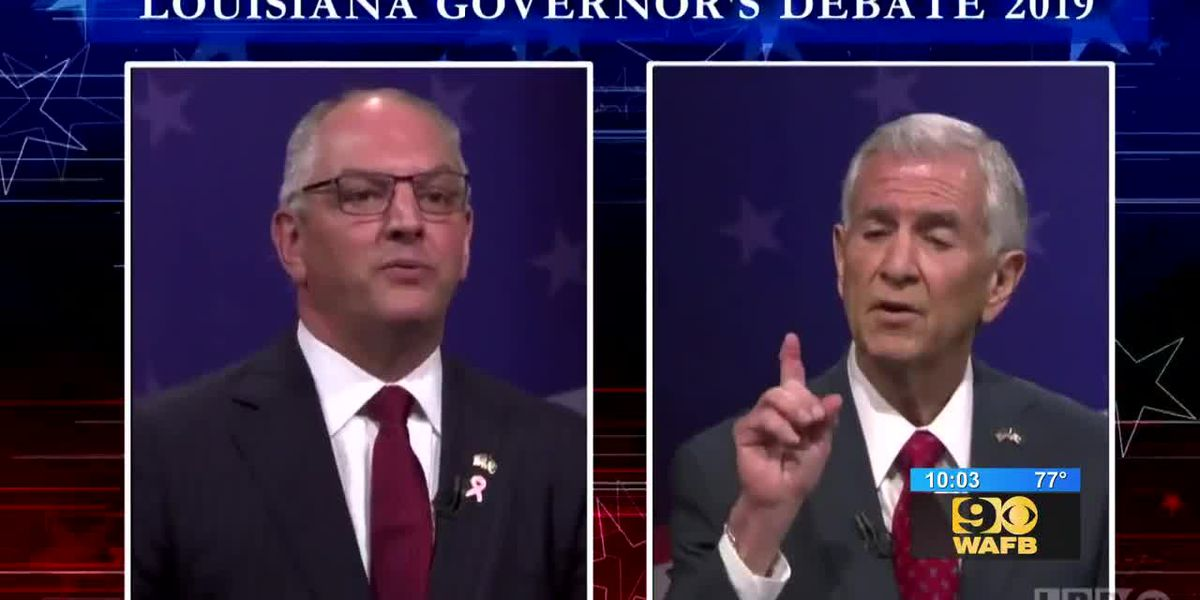 Gov. Edwards, Eddie Rispone face off in only debate before runoff election