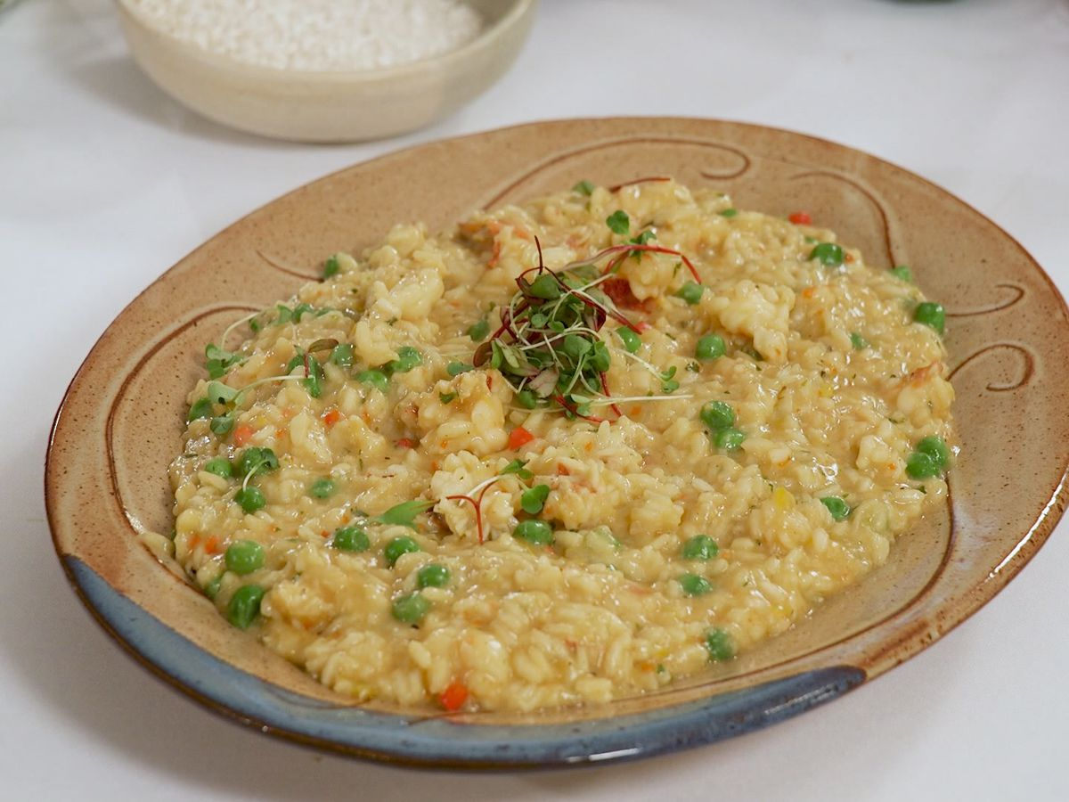 Lobster and Sweet Pea Risotto
