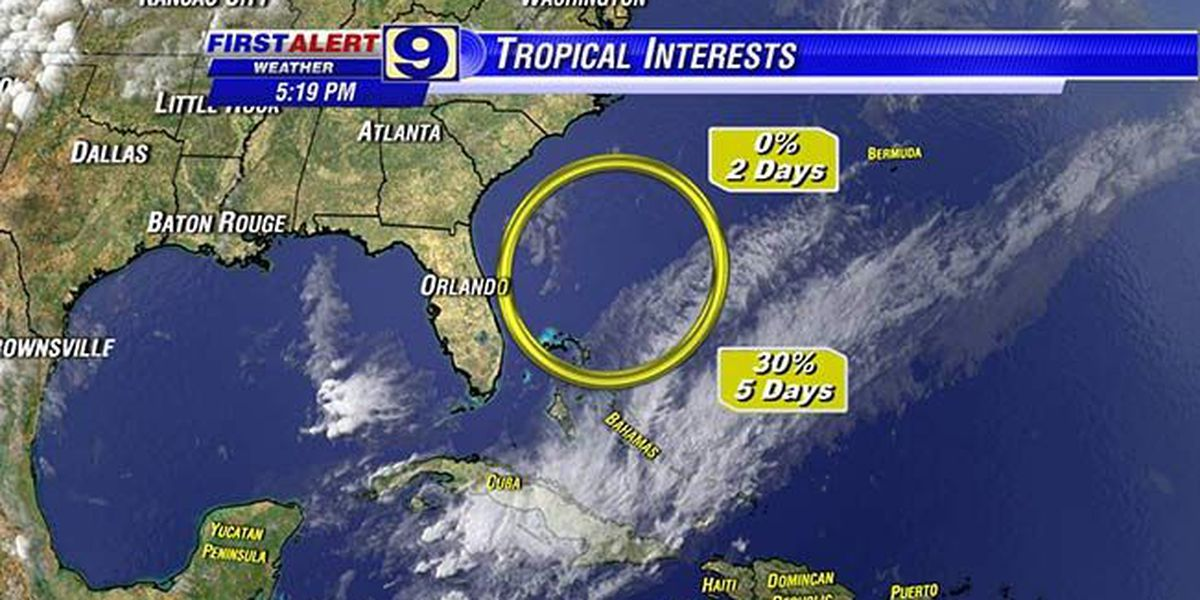 WAFB meteorologists monitor potential tropical development near the Bahamas