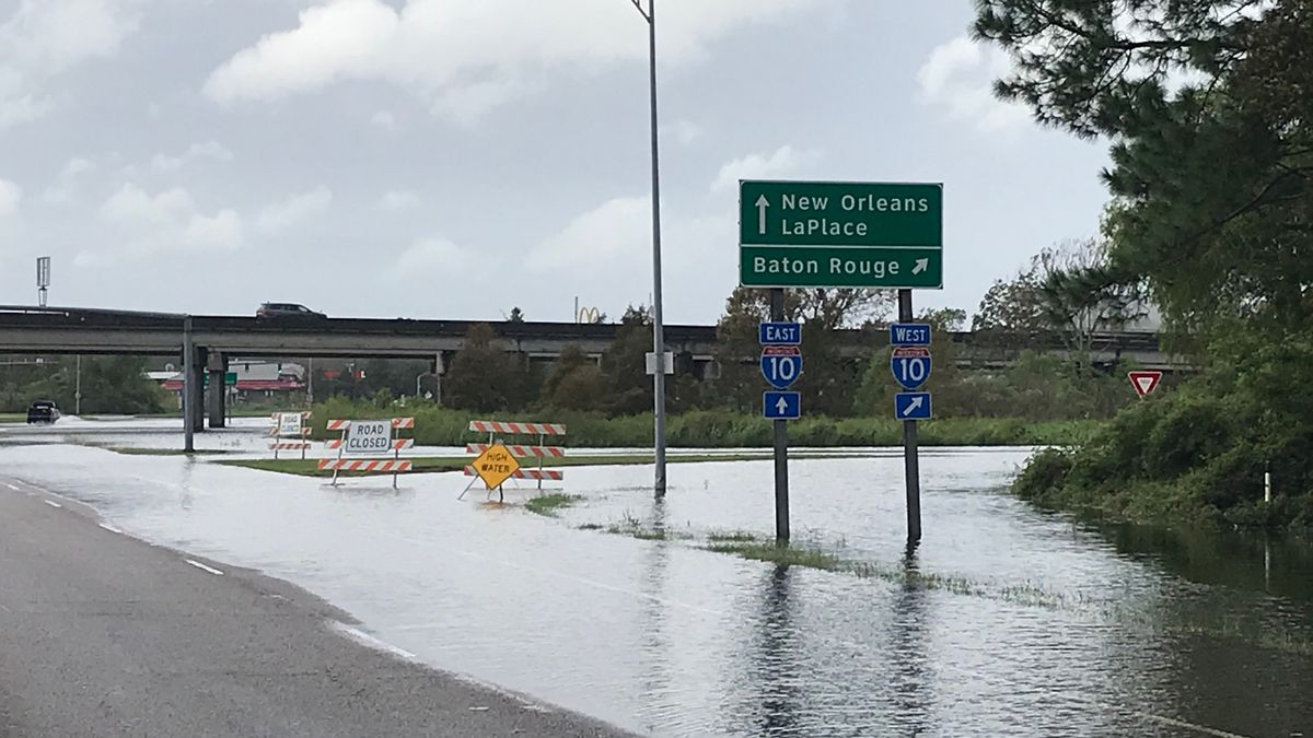 Water remains on roadway, but I-10 ramps reopened in LaPlace