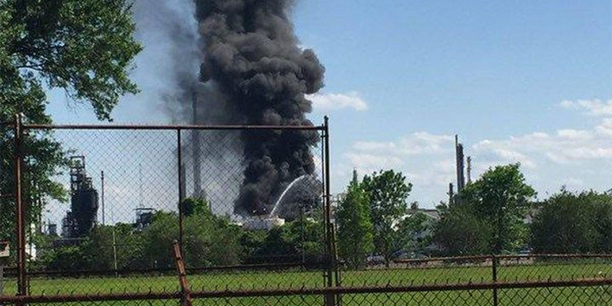 Workers get fire under control at copolymer plant on Scenic Hwy