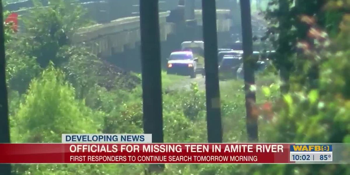 Officials suspend search for teen believed to have drowned in Amite River