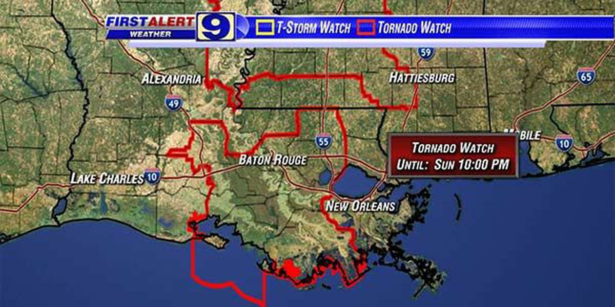 Tornado Watch for parts of WAFB viewing area canceled