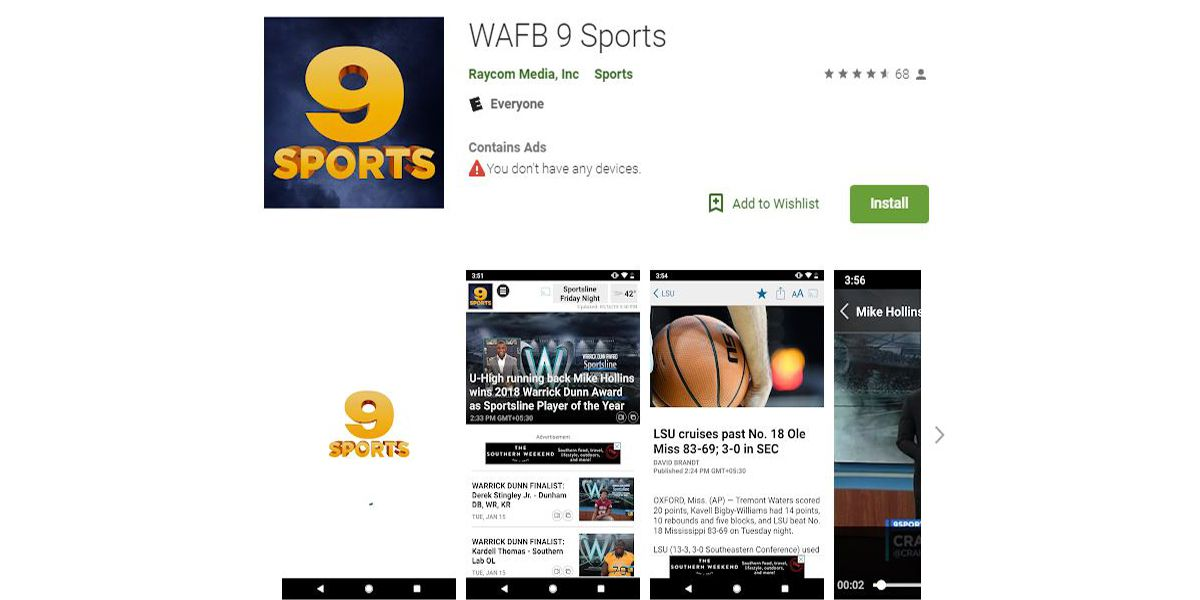 WAFB 9NEWS launches new 9Sports app
