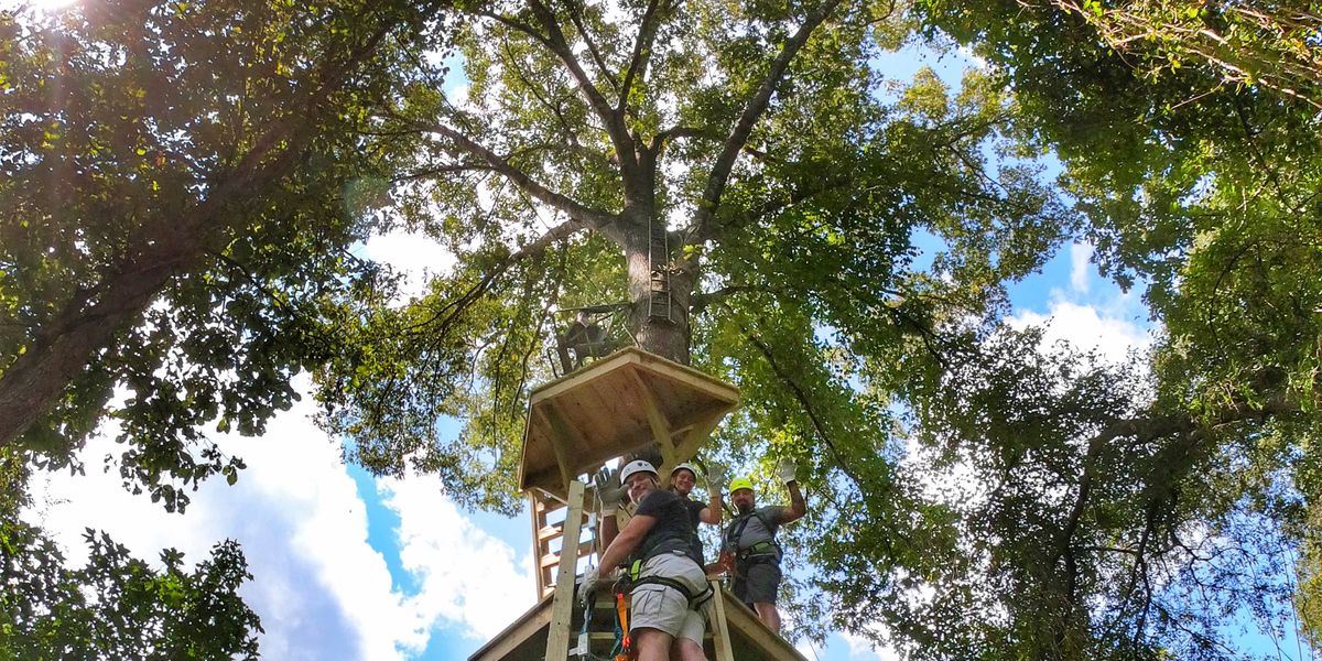 Say hello to the largest zipline course in south Louisiana