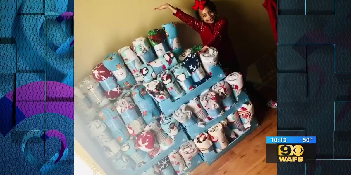 HIO: Young girl uses birthday money to buy blankets for Iris House