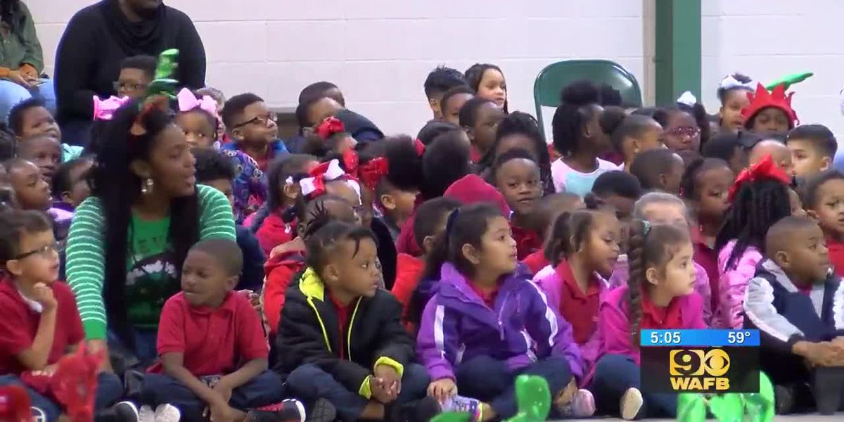 BRPD delivers presents to students at Geo Prep Academy