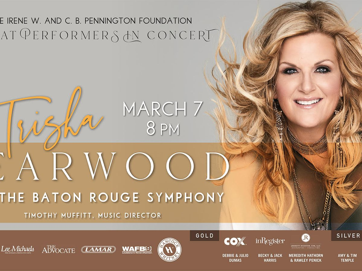 Trisha Yearwood to perform with Baton Rouge Symphony in March