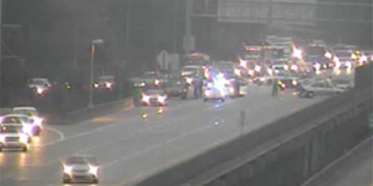 Multiple crashes shut down I-110 South