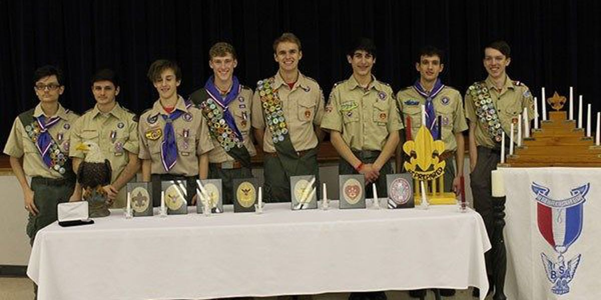 Gonzales-based Boy Scout troop produces eight new Eagle Scouts