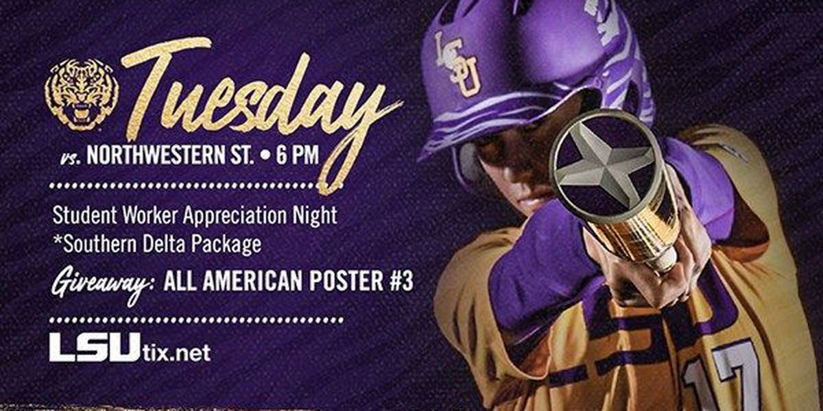 LSU softball takes on Northwestern State in midweek contest