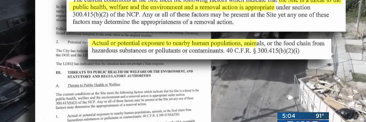 EXCLUSIVE: EPA memo shows Gert Town residents possibly exposed to dangerous levels of radium