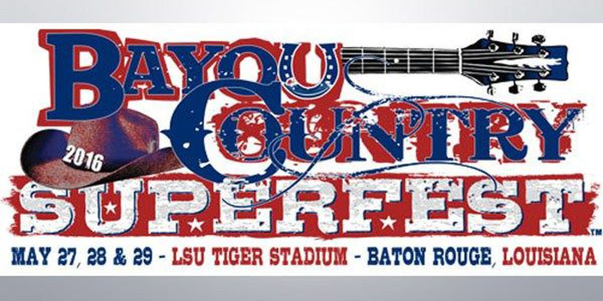 Bayou Country Superfest 2016 single-day tickets to go on sale Tuesday