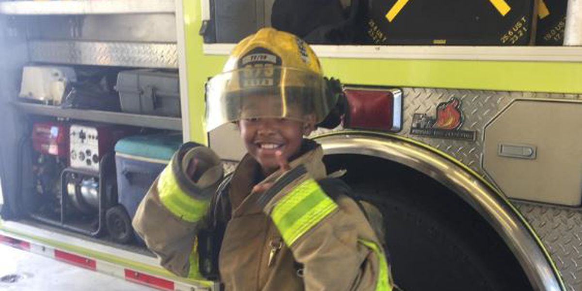 9-year-old spends the day as a firefighter as part of Big Buddy program