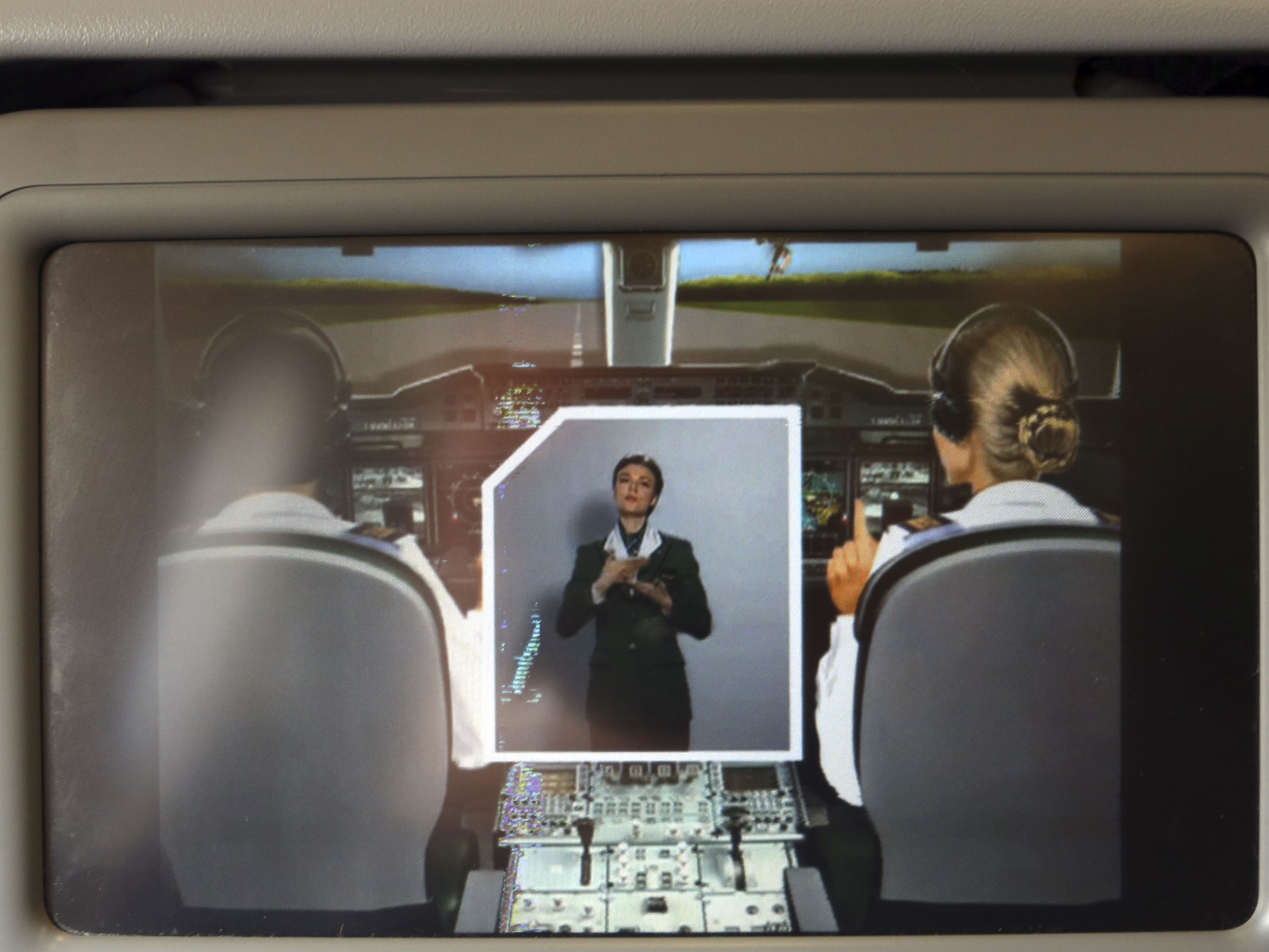 Smile: Some airliners have cameras on seat-back screens