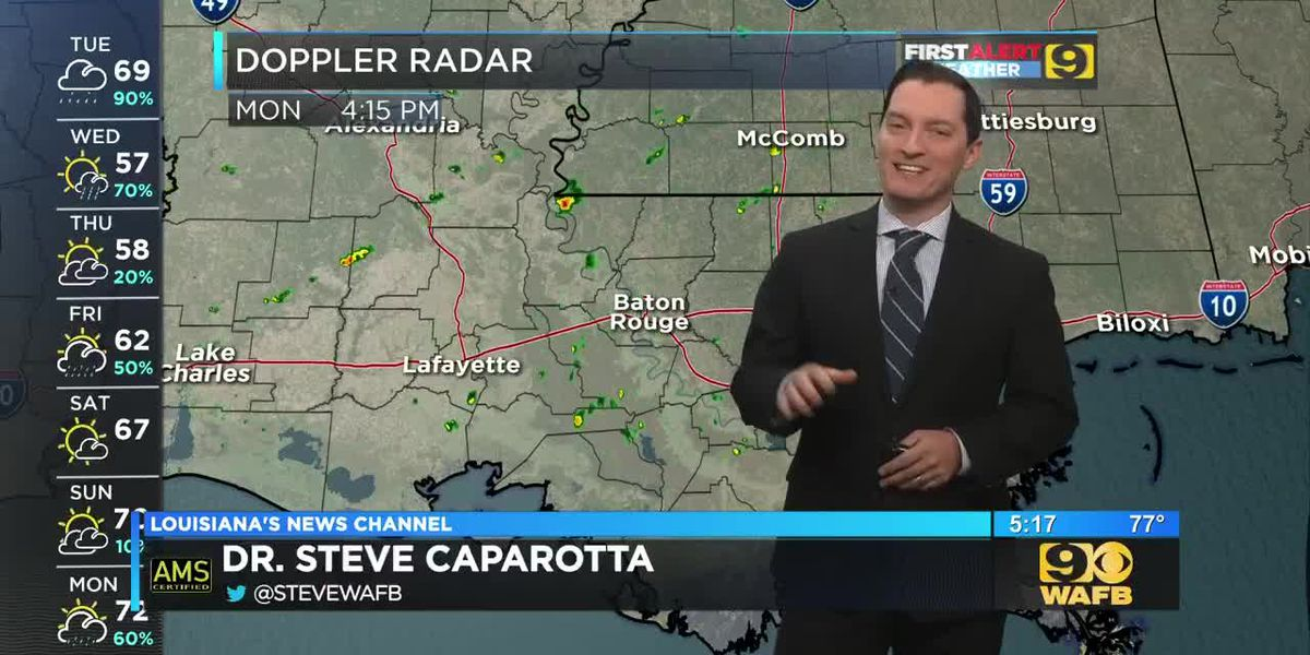 FIRST ALERT 5 P.M. FORECAST: Monday, Dec. 9