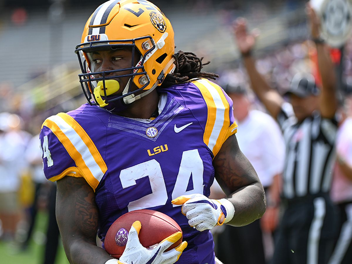 RB Chris Curry finds pay dirt twice as Purple beats White in LSU Spring Game