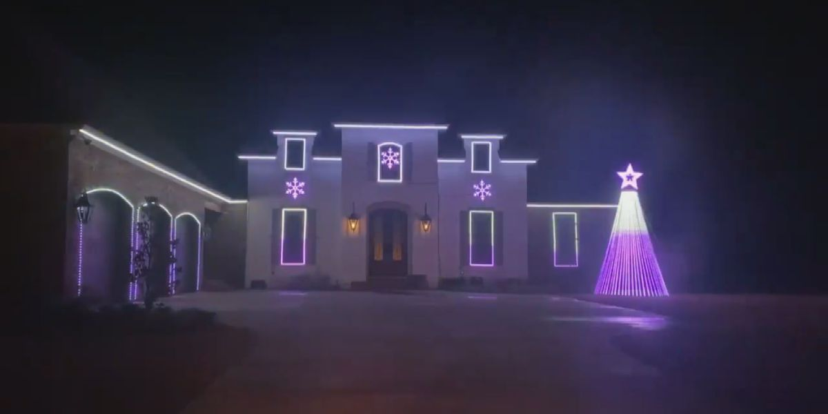 Monroe house 'Callin' Baton Rouge' for the holidays with lights display