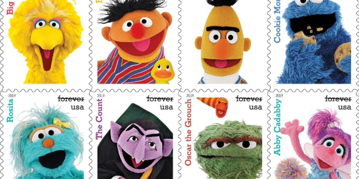 USPS reveals new 'Sesame Street,' Tyrannosaurus rex stamps