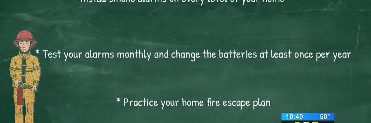 Emergency officials remind residents to make fire safety a priority as daylight saving time ends