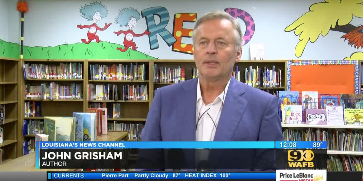 Author John Grisham wants all Louisiana students to have a breakfast option