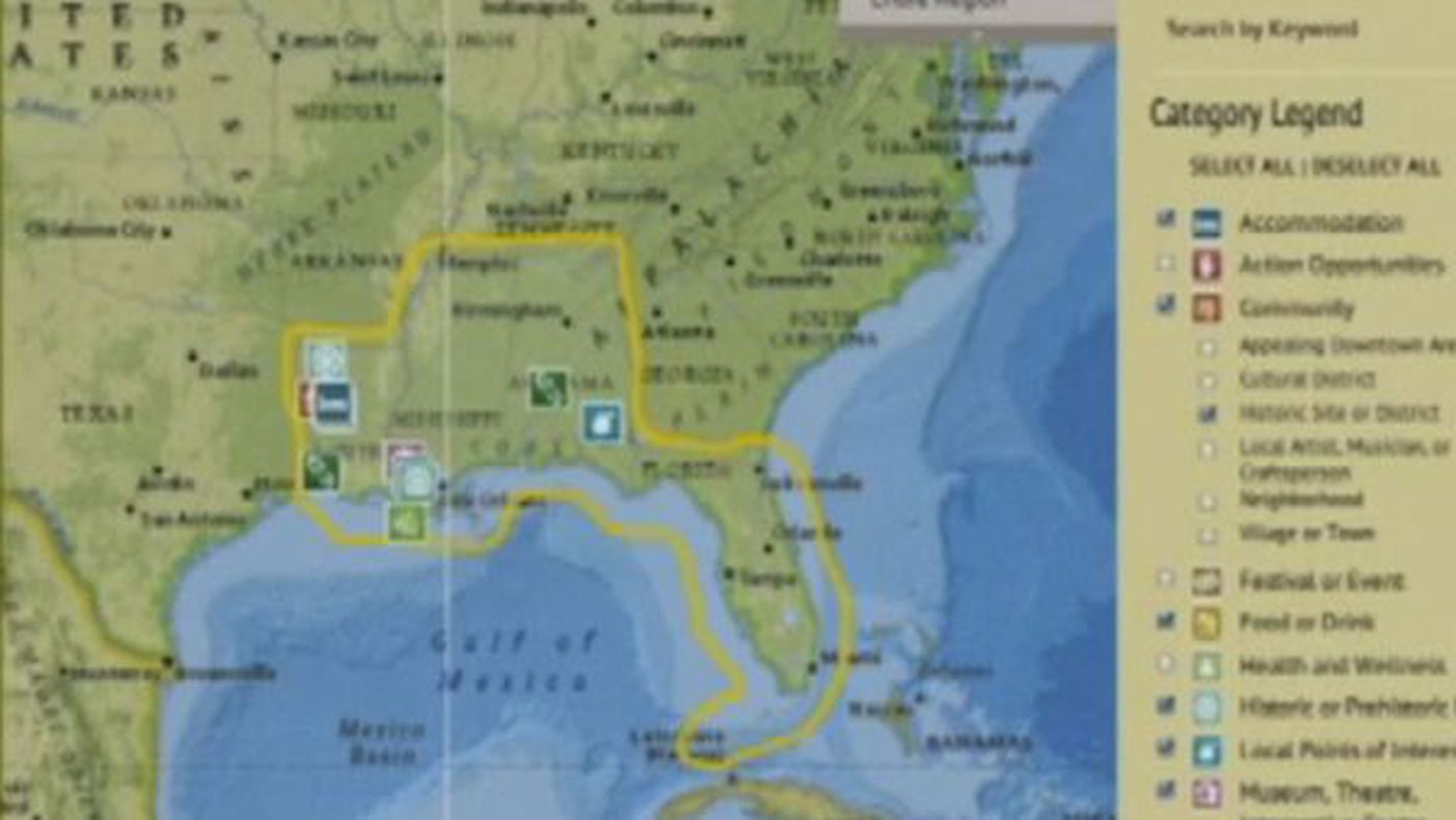 Geographic Map Of Louisiana.Louisiana Selected As Part Of National Geographic S Geo Tourism