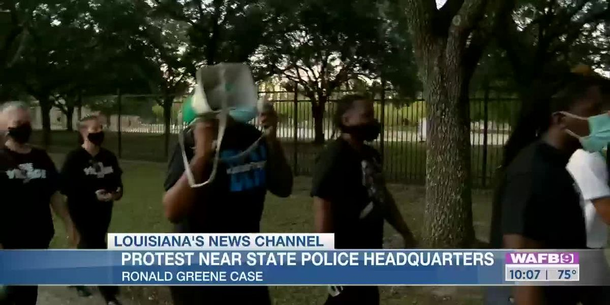 Protesters gather near LSP headquarters to demand release of Ronald Greene video