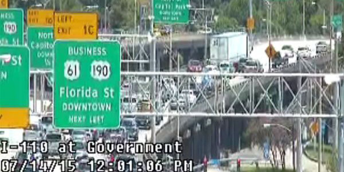 All lanes reopen on I-110 North at Florida