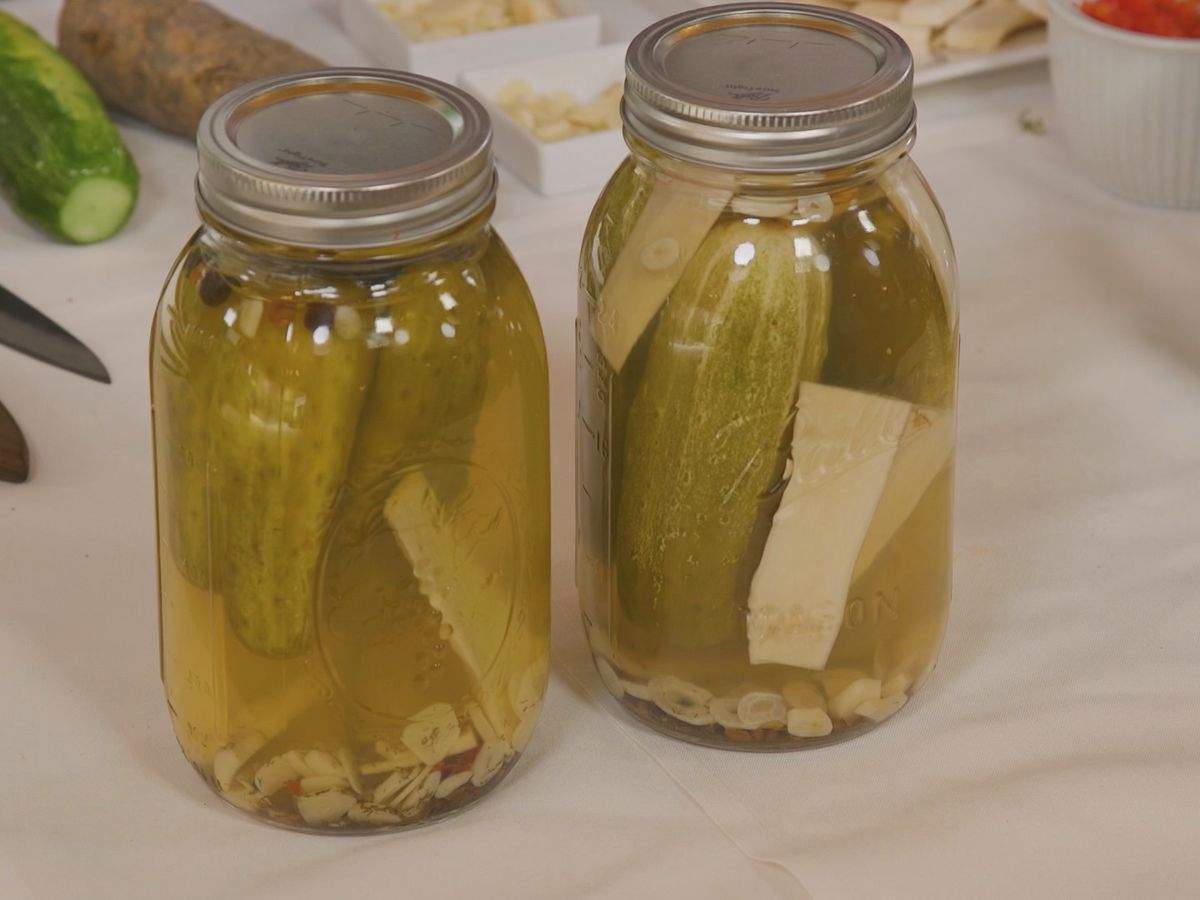 Spicy Horseradish Pickles