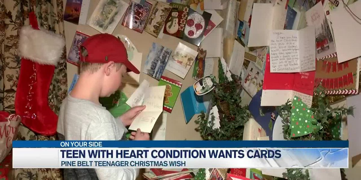 Pine Belt teenager wants Christmas cards as he waits for a new heart