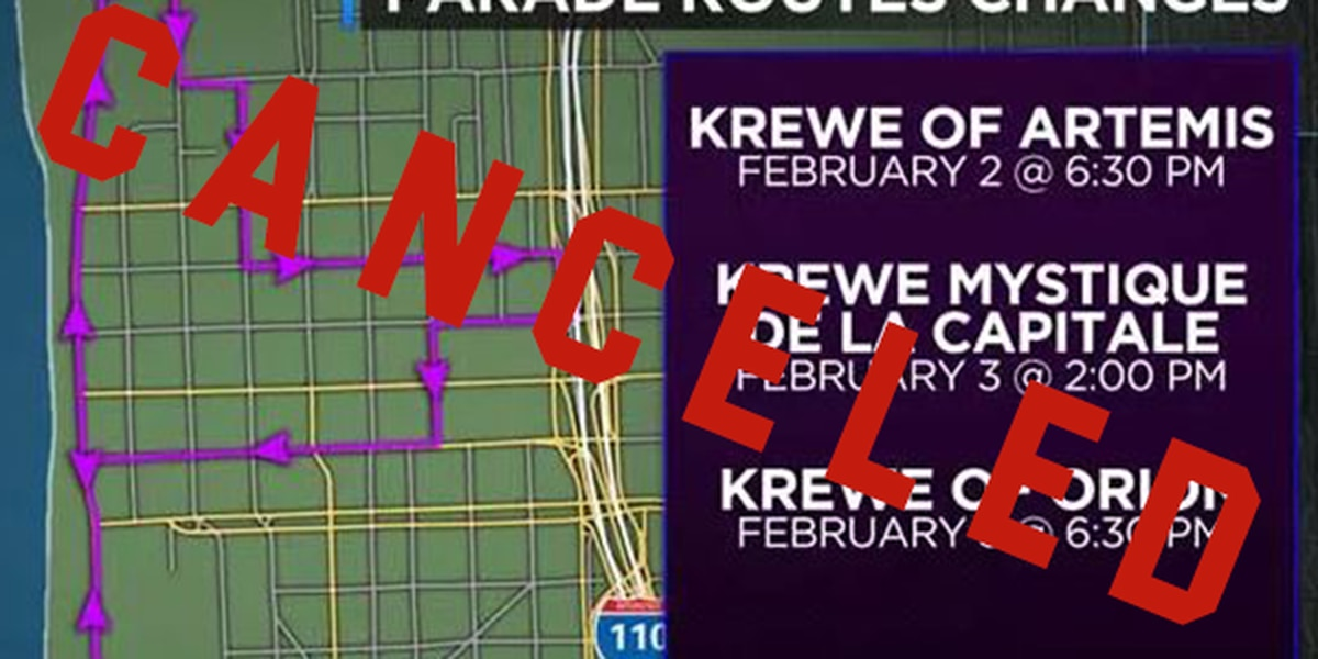 Krewe of Orion parade canceled due to threat of rain