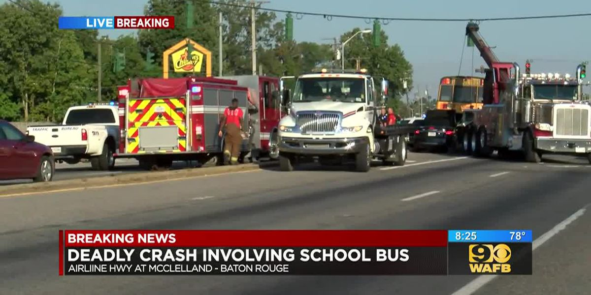 Police investigate deadly crash involving school bus, another vehicle