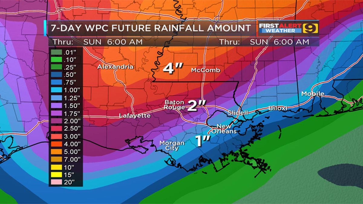 FIRST ALERT FORECAST: Drizzly and rainy Sunday