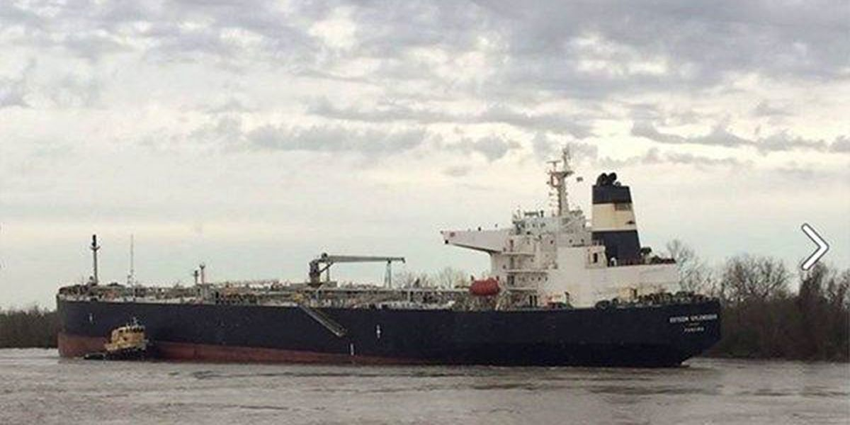 Ship runs aground in Geismar