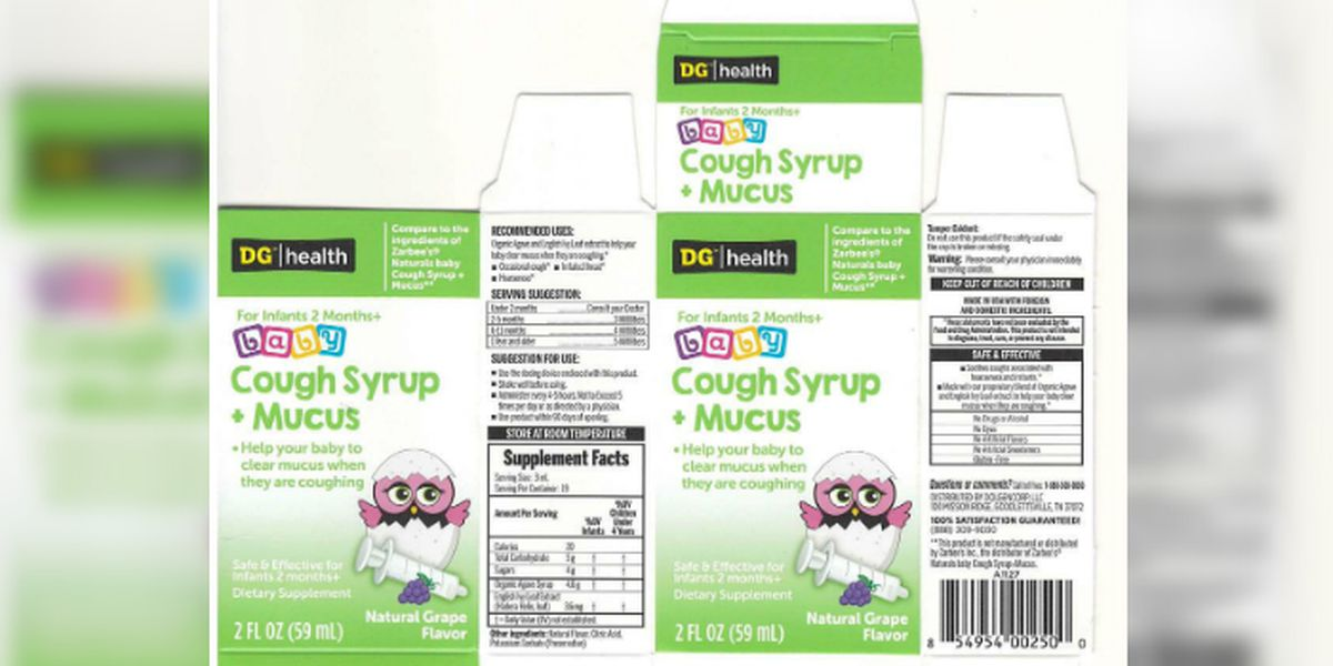 Dollar General baby cough syrup recalled due to bacteria contamination