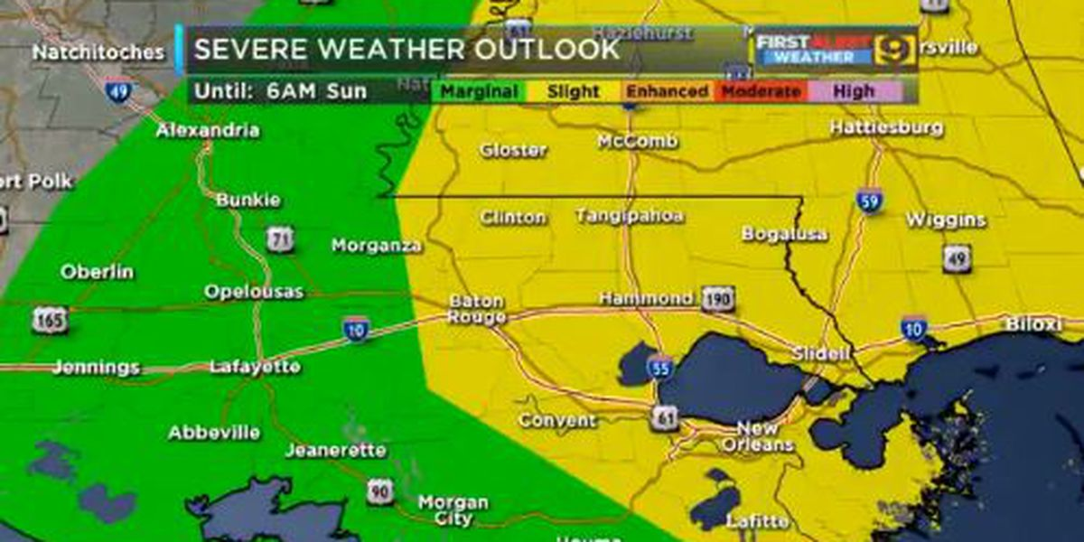 FIRST ALERT FORECAST: Strong morning thunderstorms to start off weekend; Tornado watch until 1 p.m.