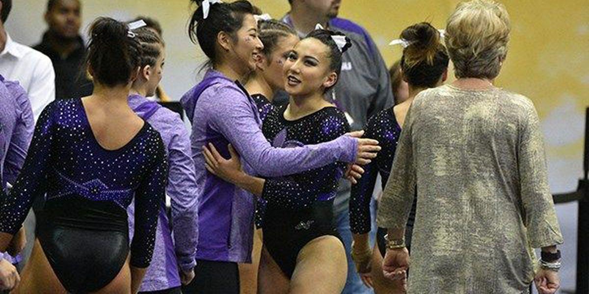 LSU gymnastics No. 2 in this week's Top 25