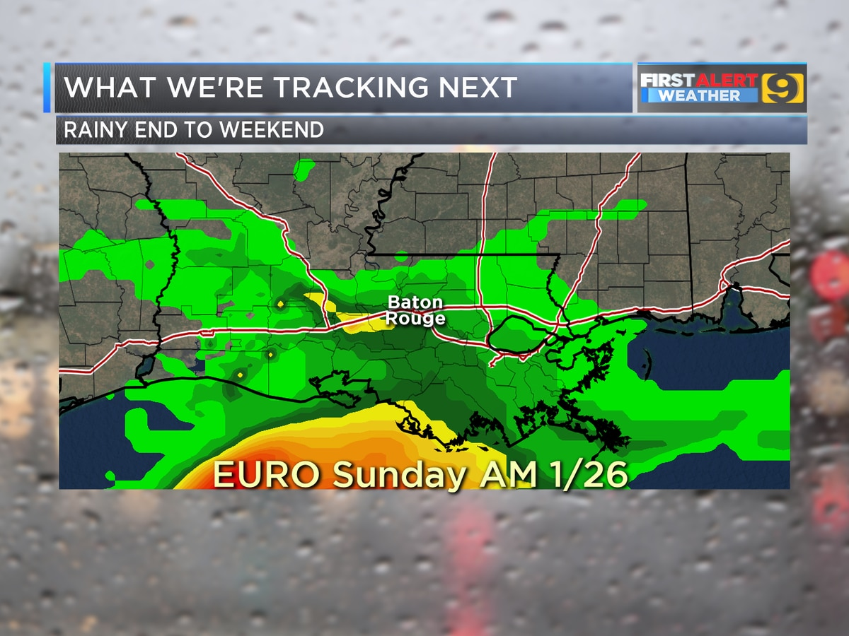FIRST ALERT FORECAST: Dry weather until Sunday